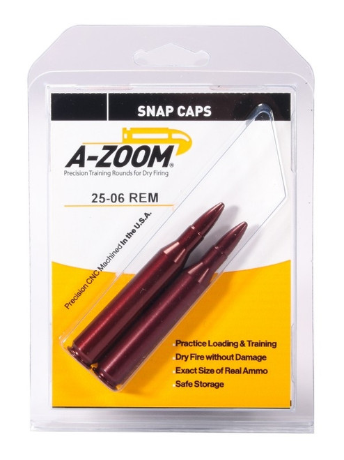 A-Zoom 25-06 REM Snap Caps 2/Pkg