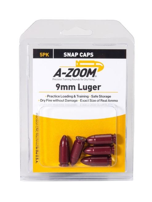 A-Zoom 9Mm Luger Snap Caps 5/Pkg