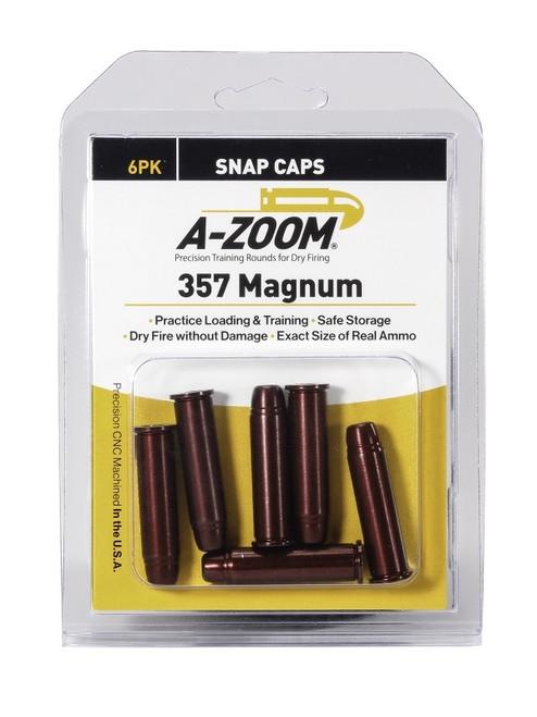 A-Zoom 357 Mag Snap Caps 6/Pkg