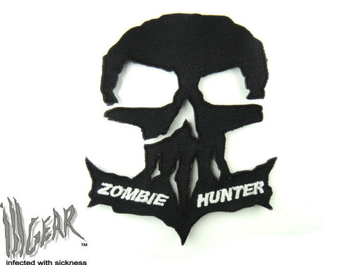 Zombie Hunter Tactical Black Skull - Morale Patch
