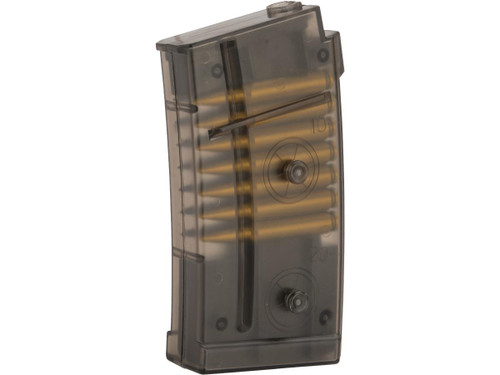 Double Eagle Translucent 40 Round Magazine with Dummy Bullets for M82 LPAEG Airsoft Gun