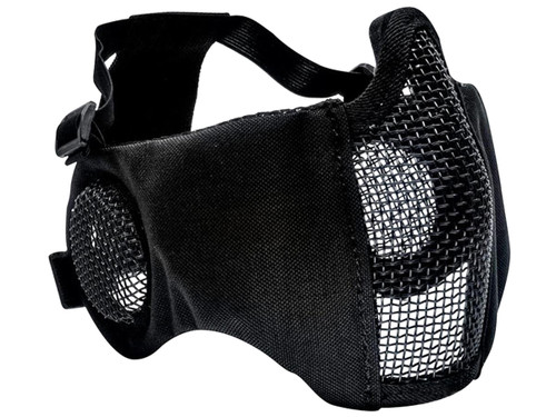 Valken Zulu Mesh Half Face Mask with Ear Protection (Color: Black)