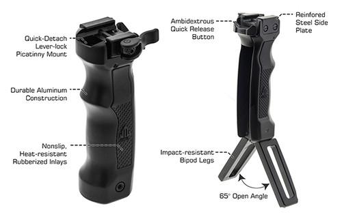 Combat D Grip Quik Deployable Bipod Foregrip