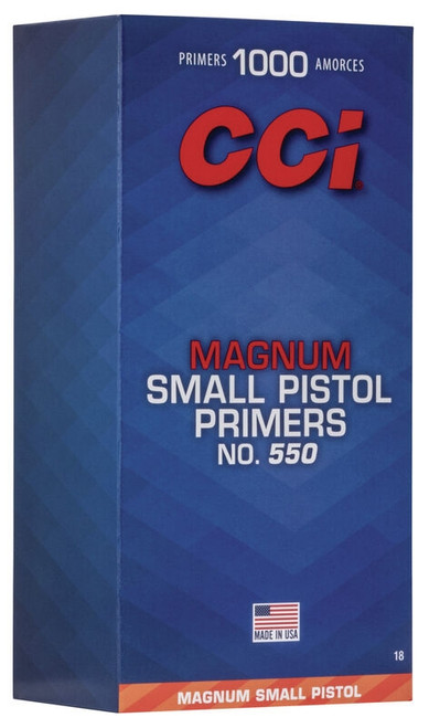 550 Small Pistol Magnum Primers (Per/1000)