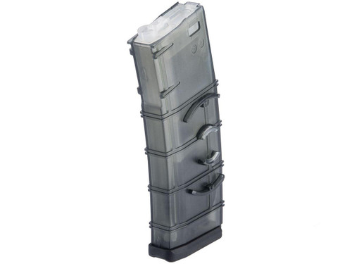 "Matrix Polymer 360 round ""Flash Mag"" for M4 M16 Series Airsoft AEG (Color: Translucent Gray)"