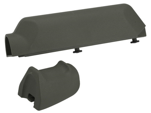 Pistol Grip and Cheek Pad Riser Set for Ameoba Striker S1 Airsoft Sniper Rifles (Color: Olive Drab)