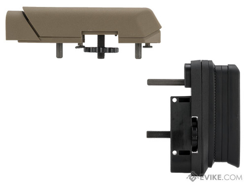 Ares AMOEBA Striker S1 Precision Adjustable Sniper Stock & Cheek Riser Upgrade Kit (Color: Dark Earth)