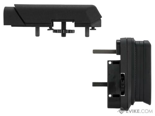 Ares AMOEBA Striker S1 Precision Adjustable Sniper Stock & Cheek Riser Upgrade Kit (Color: Black)