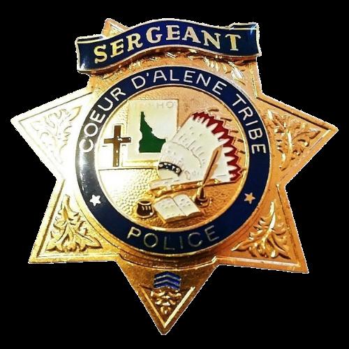 Sergeant Doeur D'alene Tribe Police Badge