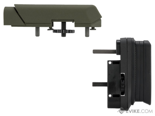Ares AMOEBA Striker S1 Precision Adjustable Sniper Stock & Cheek Riser Upgrade Kit (Color: OD Green)
