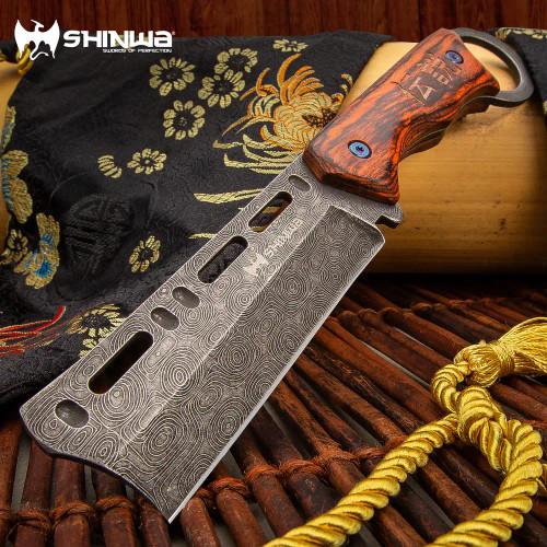 Shinwa Bloodwood Cleaver Knife With Sheath