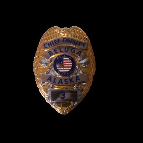 Chief Deputy Beluga Alaska Movie Prop Badge