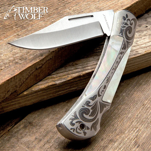 Timber Wolf Gentleman's Pearl Pocket Knife