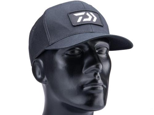 Daiwa D-VEC Mesh Trucker Hat w/ Embroidered Logo (Color: Black)