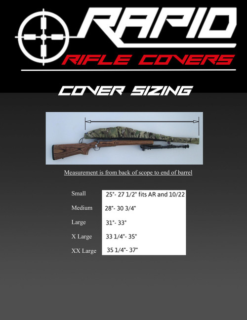 "Rapid Rifle Cover X-Large 33.25""-35"" Coyote"