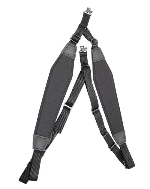 Padded Nylon Backpack Sling-Black W/Swivels