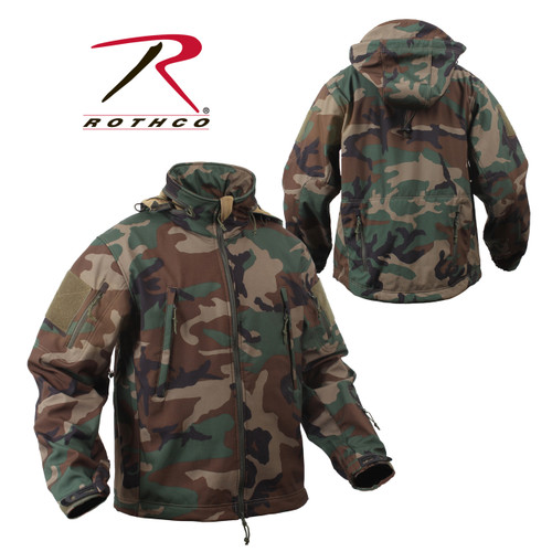 Rothco Special OPS Tactical Soft Shell Jacket - Woodland Camo