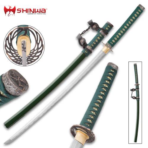 Shinwa Genesis Handmade Tachi/Samurai Sword - Hand Forged Damascus