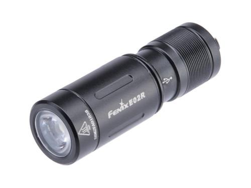 Fenix E02R Rechargeable 200 Lumen EDC Keychain Flashlight