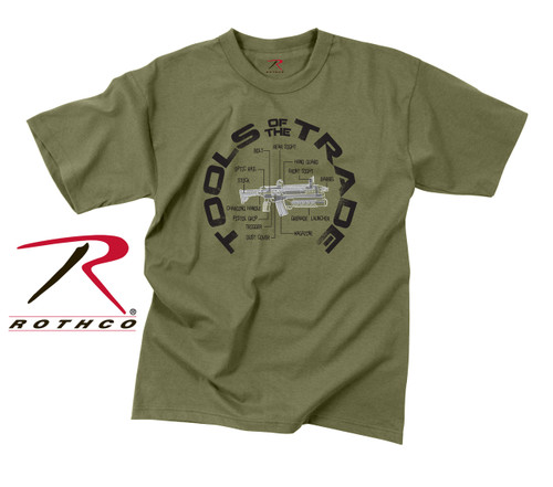 """Vintage """"Tools Of The Trade"""" T-Shirt - Olive Drab"""