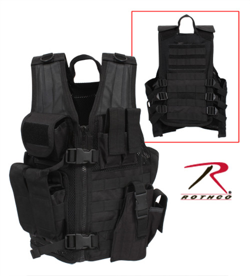 Kid's Tactical Cross Draw Vest - Black