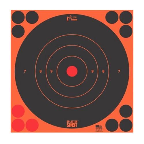 "Splatter Shot 8"" Orange Target 6/Pkg"