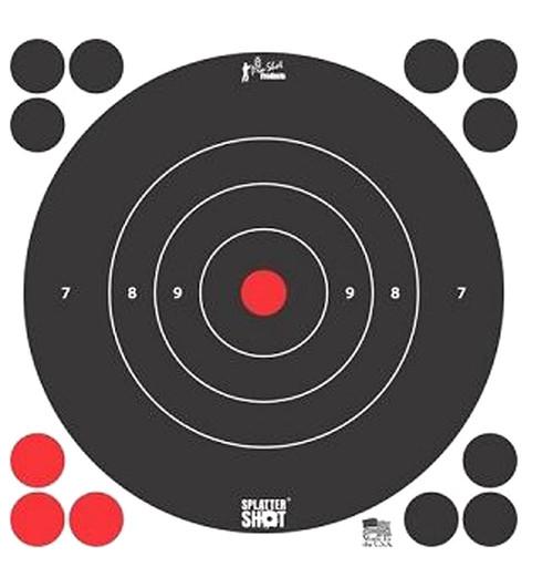 """Splatter Shot 8"""" White Target 6/Pkg"""
