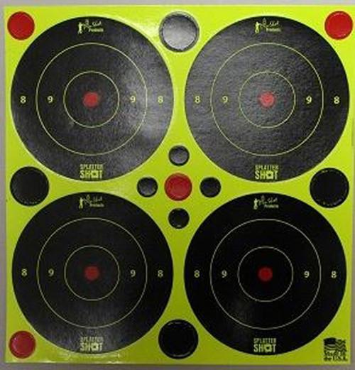 "3"" Green Splattershot Bulls Eye W/Pasters"