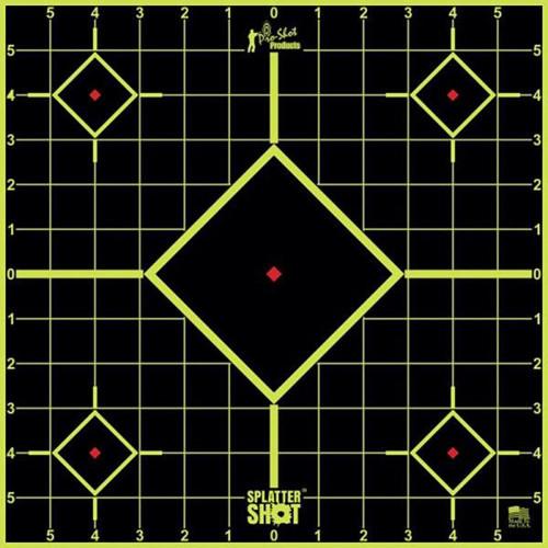 "Splatter Shot 12"" Sq Green Sight In 5/Pkg"