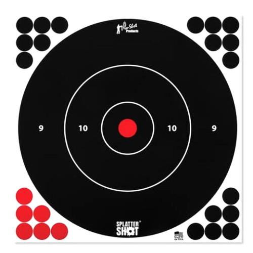"""Splatter Shot 12"""" White Target 5/Pkg"""