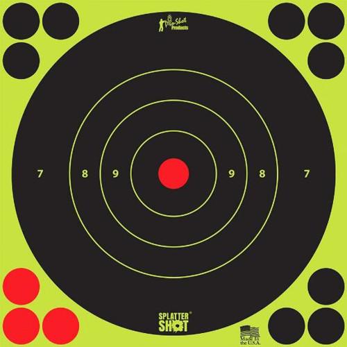 """Splatter Shot 12"""" Green Target 5/Pkg"""
