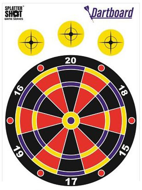 Splatter Shot Game Series Dartboard 8Pk