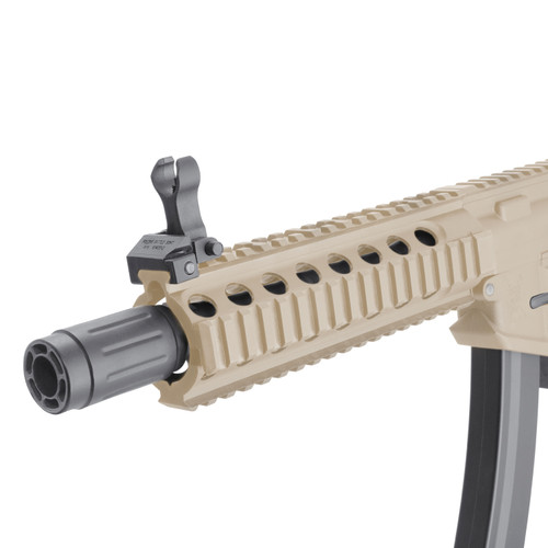 King Arms PDW 9mm SBR Airsoft AEG Rifle (Color: Desert Earth / Long)