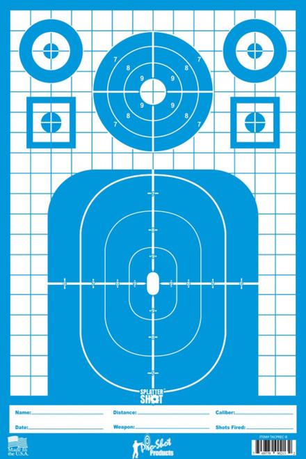 Tactical Precision Target Blue 8/Pkg