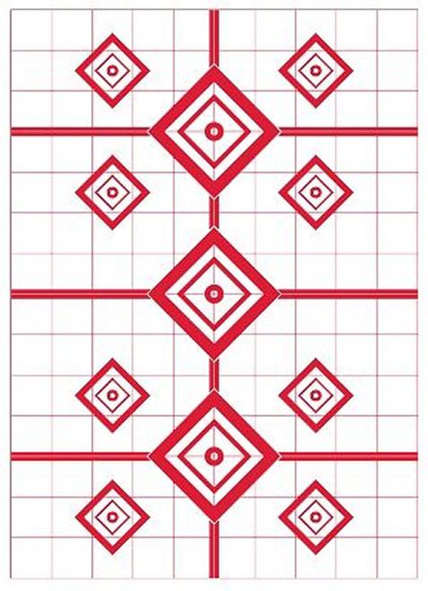 200 Yard Rifle Sight In Target 5/Pkg