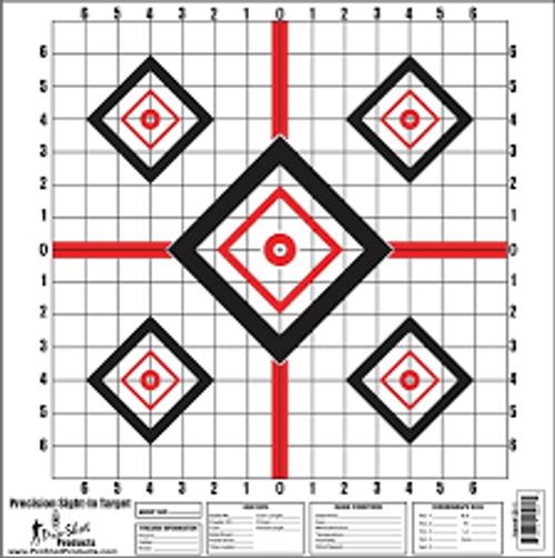 "Precision Sight In Target 16""X16"" 10/Pkg"