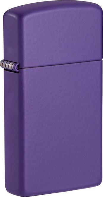 Slim Purple Matte Lighter