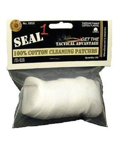 """270-35 1.3/4"""" Cotton Cleaning Patches 100 Per/Bag"""