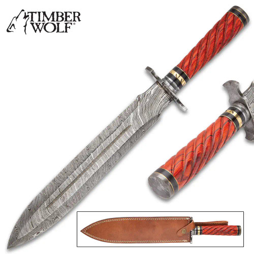Timber Wolf Temple Guard Short Sword With Sheath
