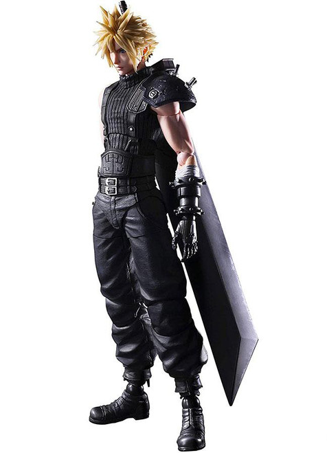 Play Arts Kai Final Fantasy VII Remake Poseable PVC Figure (Figure: Could Strife Ver.2)