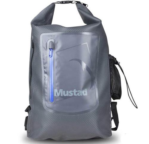 Mustad Fishing Dry Backpack (Size: 30L / Dark Grey - Blue)