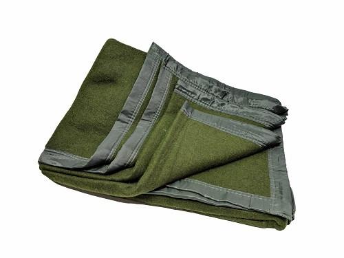 Hero Brand Olive Drab Wool Blanket