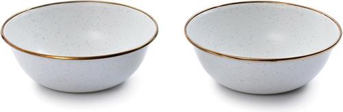 Enamel Bowl Set Eggshell