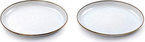 Enamel Plate Set Eggshell