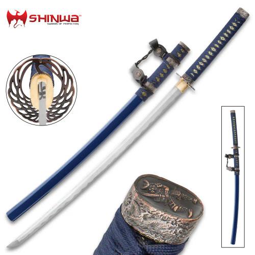 Shinwa Wellspring Handmade Tachi Sword - Hand Forged Damascus