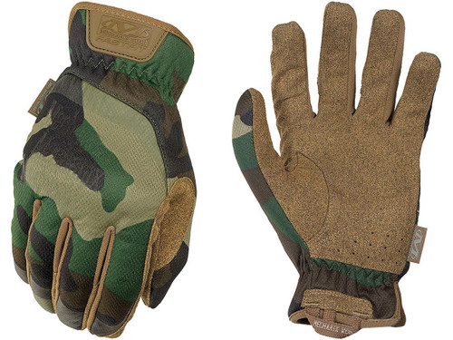 Mechanix Wear FastFit Tactical Touch Screen Gloves (Color: Woodland Camo / Medium)