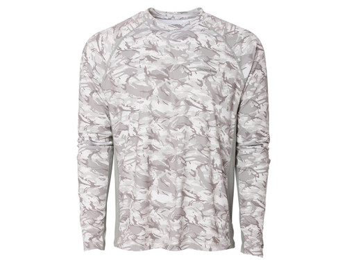 Grunden Solstrale Long Sleeve Crew Shirt (Color: Refraction Glacier Camo)