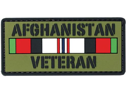 """Voodoo Tactical """"Afghanistan Veteran"""" PVC Hook and Loop Morale Patch"""