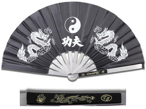 Master Cutlery Kung Fu Fighting Fan (Color: Black)