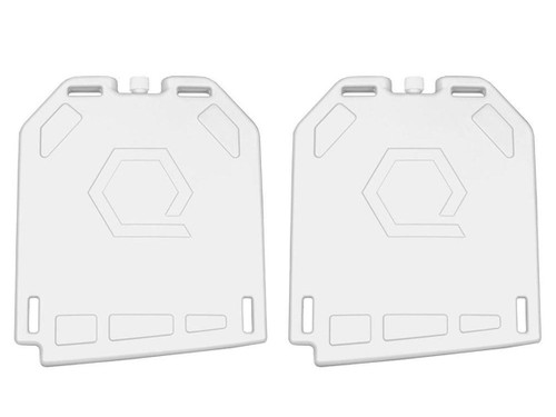 Qore Performance IcePlate Cooling Plate No Hose (Color: White - 2 Pack)